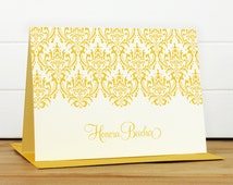 Personalized Stationery Set / Personalized Stationary Set - DAMASK Custom Personalized Note Card Set - Feminine Pretty Mother's Day