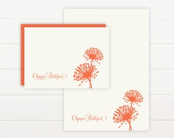 BLOOM Personalized Stationery + Notepad Set - Personalized Notepad and Personalized Stationary