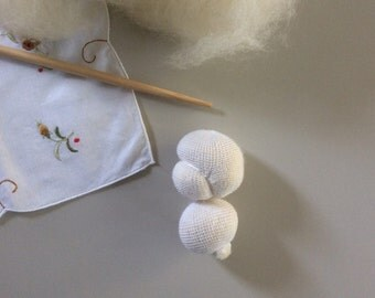 "4"" Doll Head Handmade Wool  Waldorf Doll Supplies"