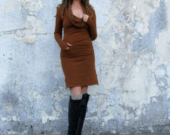 ORGANIC Gypsy Darjeeling Short Dress (hemp/organic cotton fleece) - organic dress