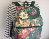 Charming Vintage Floral Backpack by Nordic House Designs. Made in USA.