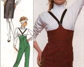 Empire waist pants high waisted skirt and pants circa 1980s Simplicity 8739 Sz 6 to 10 UNCUt