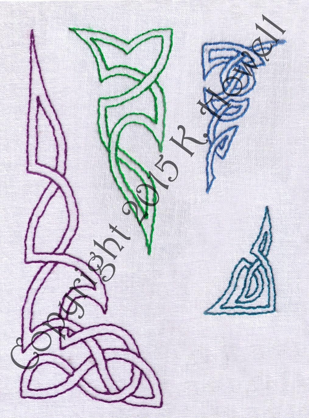 Celtic Knot Hand Embroidery Pattern Corners Tattoo Pdf