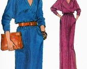 1990s Chic Blouson Dress Pattern Vogue 7402 Vintage 90s VERY Easy  Plus Size Sewing Pattern Size 18.5 - 20.5 Bust 41-43