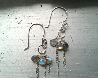 Labradorite Rainfall Earrings