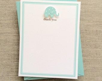 handmade baby boy elephant baby shower thank you cards boy elephant baby shower thank you