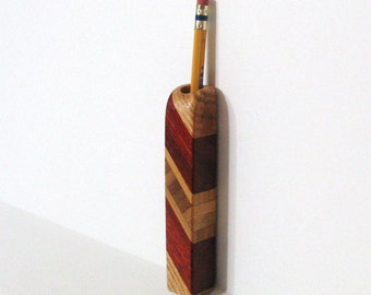 Magnetic Pen, Pencil Holder Made Of Three Woods