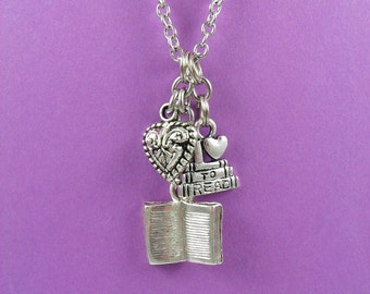 Book Lover's Charm Necklace