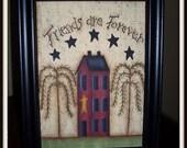 Primitive Saltbox House 5 x 7 Framed Canvas Friend Home Decor Picture