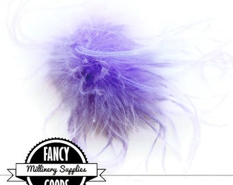 1 - Lavender - Marabou - Ostrich Feather - Poof - Pom Pom - Millinery