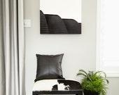 Urban Art - Modern Wall Art - Architectural Art - Black and White Wall Art Canvas - Minimalist Art - Loft Art - Bandshell - Dining Room Art