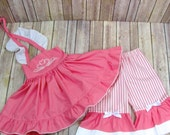 spb size3T-- Shelby dress and Ruffle bellz Pants  SET In Sugar PINK
