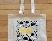 Bird Feed Canvas Tote Bag