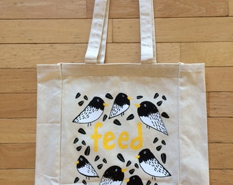 Bird Feed Canvas Tote Bag