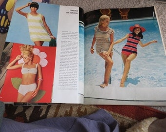 Vintage 1960s Craft Magazine Spring-Summer Needlecraft Magazine with Patterns McCall's Vintage Magazine Vintage Swimsuit Retro 60's Toys