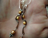 NAMASTE Mixed Metal Rustic Bohemian Swirly Stick Dangles by Meshel Designs