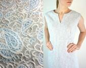 1960s Dress • A Line Dress • Shift Dress • Empire Waist Dress • Vintage Shift Dress • Flare Dress • Paisley Dress • 60s Dress • Blue Dress