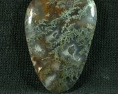 Linda Marie Plume Agate Freeform Cabochon from Oregon 26x38x5mm