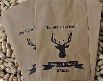 Rustic Favor Bags - Deer Head Favors - Peanut Bags - Fall Favor Bags  - Wedding Favor Bags - Deer Favor Bags - Hunting Favor Bags