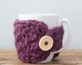 Purple Mug Cozy, Mug Cozy, Mug Warmer, Mug Cover