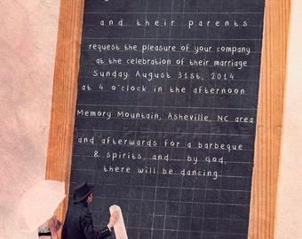 Wedding save the date, Wedding invitation pdf, Save the date, PDF printables, Fun digital wedding invitation, Customizable
