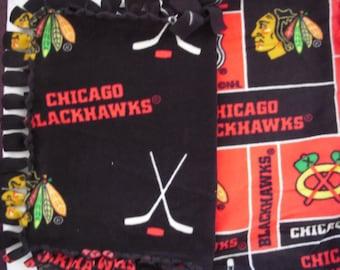 Blackhawks No-Sew Fleece Nap/lap Blanket