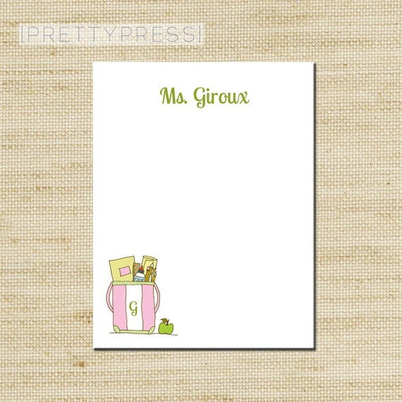 Custom Notepads Memo Pads: Teachers Notepads Custom Note Pad Personalized Notepads