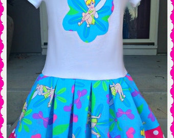 girls TINKERBELL Dress 2t 3t 4t 5/6 7/8 10/12 ready to ship