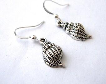 Conch Shell Earrings Silver Color Dangle Earrings