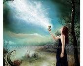 Wicca Art Print - Wicca - Wiccan - Wiccan Art - Pagan Art - Wiccan Altar - Pagan Altar - Priestess - Witch - Witch Art - Moon Art - Magick
