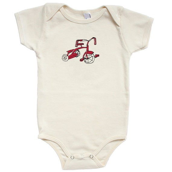 Organic Cotton Tricycle Baby Onesie