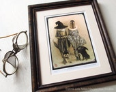 Pets and Pockets - framed limited edition fine art print 5x7""