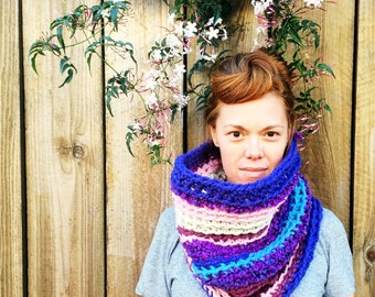 SALE! Purple Cowl Scarf. One of a kind. Ready to Ship