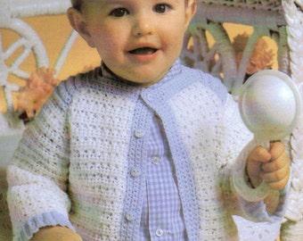 Baby Boy Crochet Pattern, Crochet Baby Cardigan Pattern, Crochet Baby Boy Sweater Pattern, INSTANT Download Pattern PDF (1342)