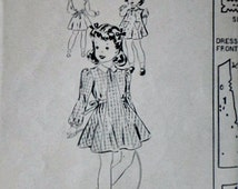 Mail Order 2976 Vintage 40's Sewing Pattern, Girls' Dress And Panties, Size 4, 23 Breast