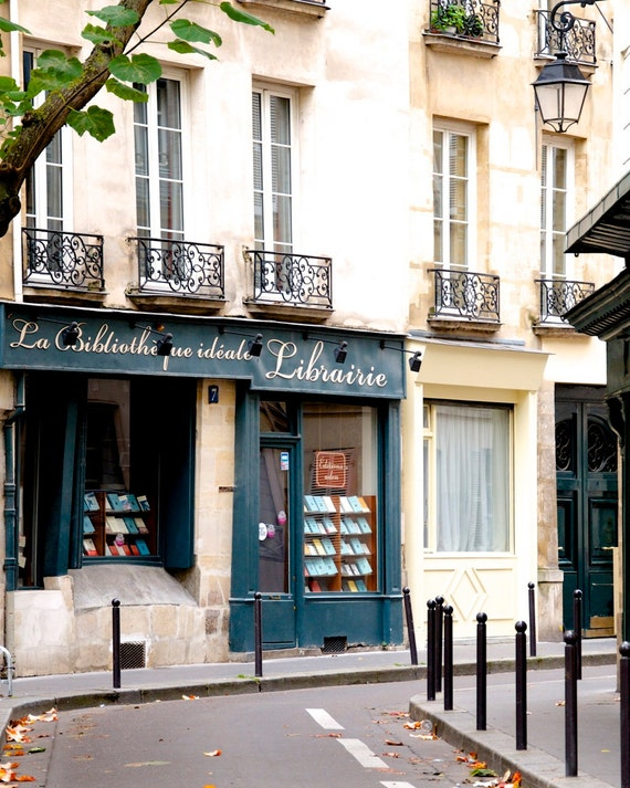 "Paris Photography, ""Librarie, Paris No 3"" Paris Print Extra Large Wall Art Prints, Paris Wall Decor, Literary Gift for Her, Librarian Gift"