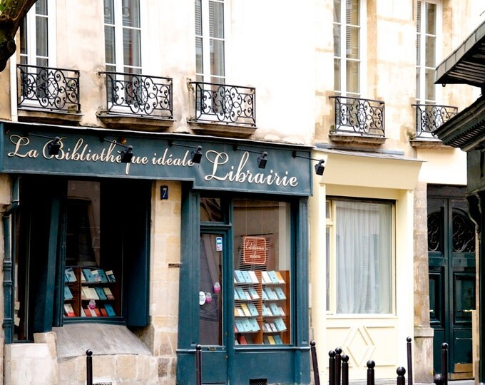 """Paris Photography, """"Librarie, Paris No 3"""" Paris Print Extra Large Wall Art Prints, Paris Wall Decor, Literary Gift for Her, Librarian Gift"""
