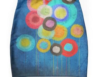 Skirt - Blue Poppies Vintage
