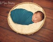 SALE Newborn Knit Stretch Wrap, Baby Layering, Baby Wrap, Teal or Green Wrap, Baby Photo Prop, Newborn Photo Prop, Baby Stretch Wrap,
