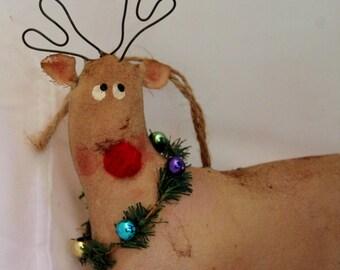 Reindeer, Prim Reindeer Ornament Rudolph