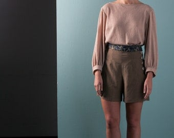 SALE - High-Waisted Shorts - 'Field Work' Culottes