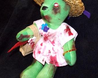 Handmade Zombie Picnic Bear