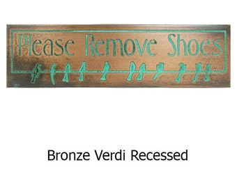 Mini Birds on Wire Rmove Boots Plaque - You choose message 8x2 inches