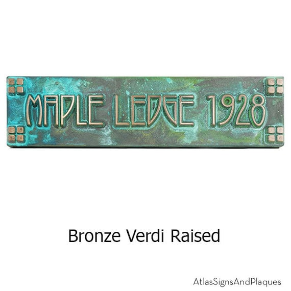 Horizontal American Craftsman Historic Plaque Squares Only 16x4 inches with Style Arts and Crafts