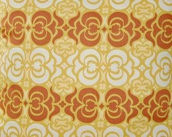 fabric destash fat quarter light mustard yellow ochre, rust cream  Amy Butler