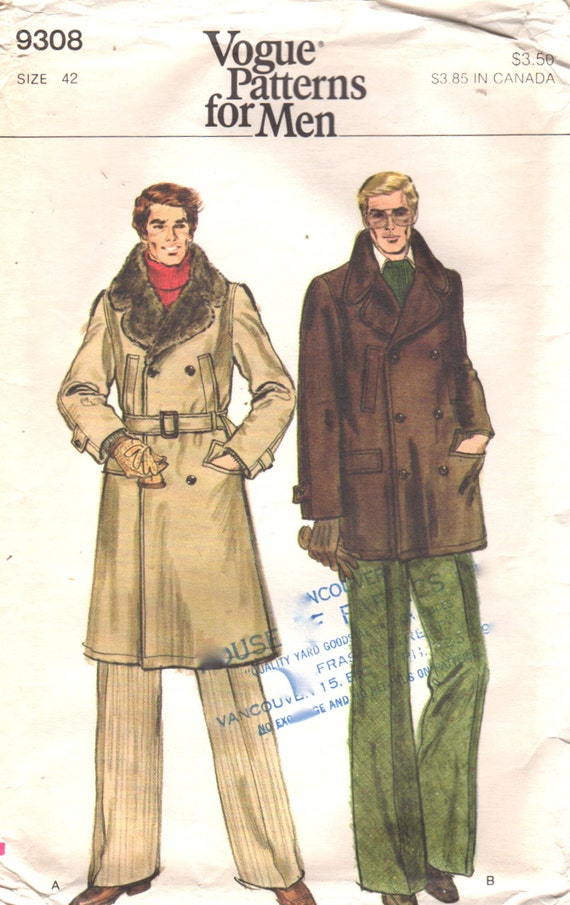 mens trench coat pattern pdf