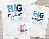 matching brother sister sibling shirts set of three matching tie design shirts for ANY combination