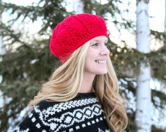 Instant Download - Crochet Pattern - Barbara Gayle Hat (Newborn to Adult)