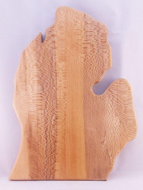 Michigan Shaped Cutting Board  - Quarter Sawn Beech Wood - Made by Trolls