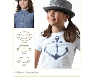 Kids Fedora Hat Sewing Pattern, Tween Fedora Hat Sewing Pattern, Adult Fedora Hat Pattern, Cute hat pattern, Fedora hat pattern, hat pattern